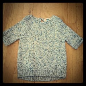 Toddler short sleeve sparkly sweater 3T